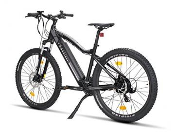 Fitifito MT 27,5 Zoll Elektrofahrrad Mountainbike E-Bike Pedelec, 36V 13Ah 468Wh LG Cells Lithium-Ionen USB , 36V 250W Heckmotor, 21 Gang Shimano Schaltung, Mechanische Scheibenbremse - 6