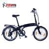 Fitifito Paris 20 Zoll Elektrofahrrad Faltrad Klapprad E-Bike Pedelec, 36V 250W Bafang Heckmotor, 6061 Aluminium Rahmen, Matt Schwarz Grau -