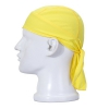 FREEMASTER Sports Bandana Cap Schwarz Rot Weiß Herrem Damen Biker Bandanas Kopftuch Hat (Gelb) - 1