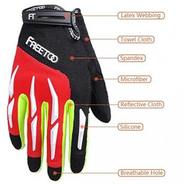 FREETOO Fahrradhandschuhe Radsporthandschuhe Vollfinger Mountainbike Handschuhe für Herren und Damen - Ideal gloves für Road Race, Radsport, Reiten, Wandern, Bergsteigen, Camping und mehr Sports im Freien - 2