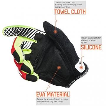 FREETOO Fahrradhandschuhe Radsporthandschuhe Vollfinger Mountainbike Handschuhe für Herren und Damen - Ideal gloves für Road Race, Radsport, Reiten, Wandern, Bergsteigen, Camping und mehr Sports im Freien - 3