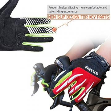 FREETOO Fahrradhandschuhe Radsporthandschuhe Vollfinger Mountainbike Handschuhe für Herren und Damen - Ideal gloves für Road Race, Radsport, Reiten, Wandern, Bergsteigen, Camping und mehr Sports im Freien - 5
