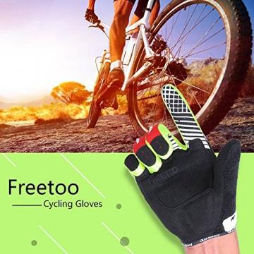 FREETOO Fahrradhandschuhe Radsporthandschuhe Vollfinger Mountainbike Handschuhe für Herren und Damen - Ideal gloves für Road Race, Radsport, Reiten, Wandern, Bergsteigen, Camping und mehr Sports im Freien - 7
