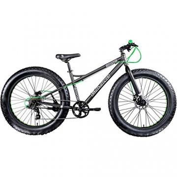 Galano 26 Zoll Fatbike Fatman Mountainbike MTB Hardtail 4.0 fette Reifen Fahrrad (Grau) - 2