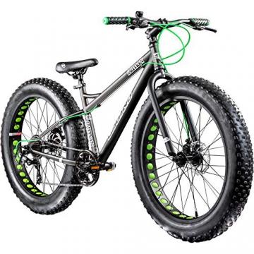 Galano 26 Zoll Fatbike Fatman Mountainbike MTB Hardtail 4.0 fette Reifen Fahrrad (Grau) - 1