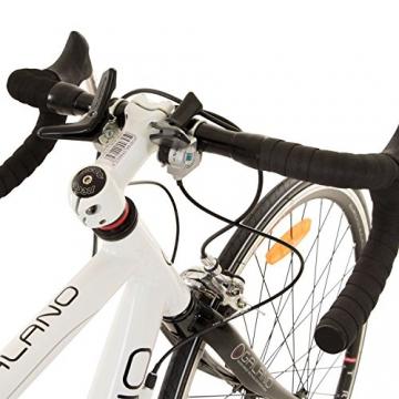 Galano 28 Zoll Rennrad Giro D'Italia 3 Rahmengrößen 2 Farben, Farbe:Weiss, Rahmengrösse:53 cm - 6