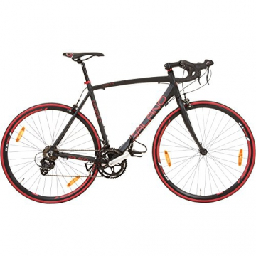 Galano 700C 28 Zoll Rennrad Vuelta Sti 4 Rahmengrößen 2 Farben, Rahmengrösse:59 cm, Farbe:schwarz/rot - 2