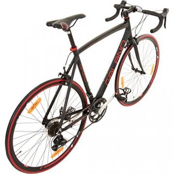 Galano 700C 28 Zoll Rennrad Vuelta Sti 4 Rahmengrößen 2 Farben, Rahmengrösse:59 cm, Farbe:schwarz/rot - 3