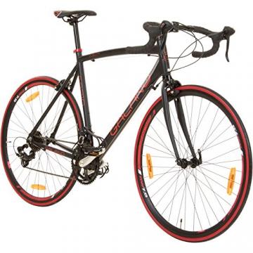 Galano 700C 28 Zoll Rennrad Vuelta Sti 4 Rahmengrößen 2 Farben, Rahmengrösse:59 cm, Farbe:schwarz/rot - 1