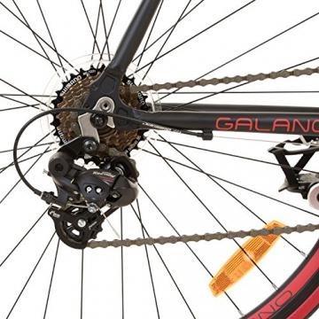 Galano 700C 28 Zoll Rennrad Vuelta Sti 4 Rahmengrößen 2 Farben, Rahmengrösse:59 cm, Farbe:schwarz/rot - 7