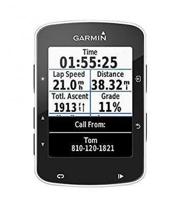 Garmin Edge 520 - GPS-Fahrradcomputer für ambitionierte Rennfahrer mit 2,3 Zoll (5,8 cm) Farbdisplay und Strava Live Segmenten - 1