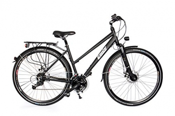 Gregster Damen Aluminium Trekking-Bike Fahrrad StVZO, Schwarz, 28 Zoll, GR-6695 -