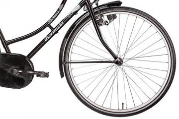 Hollandrad 28'' Bermuda Valencia Stadtrad Damen Holland Fahrrad Citybike Beleuchtung Gepäckträger Rücktrittbremse (schwarz) - 3