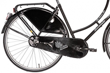 Hollandrad 28'' Bermuda Valencia Stadtrad Damen Holland Fahrrad Citybike Beleuchtung Gepäckträger Rücktrittbremse (schwarz) - 4