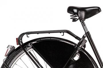 Hollandrad 28'' Bermuda Valencia Stadtrad Damen Holland Fahrrad Citybike Beleuchtung Gepäckträger Rücktrittbremse (schwarz) - 5