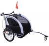 Homcom 5664-0101BW  360° Drehbar 2 in 1 Kinder Fahrradanhänger Jogger, schwarz / weiß -
