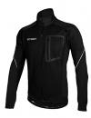 iCreat Herren Jacke Air Jacket Winddichte Lauf- Fahrradjacke MTB Mountainbike Jacket Visible reflektierend, Fleece Warm Jacket für Herbst, Schwarz Gr.L -