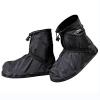 Jianke Regenüberschuhe Fahrrad Wasserdicht Überschuhe Regen Schuhüberzieher Mehrweg Rutschfest Motorrad Regenschutz Schuhe(Schwarz-392,3XL) - 1