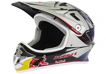 Kini Red Bull Downhill-MTB Helm MTB Silber Gr. M - 1