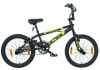 LA Bicycle BMX Fahrrad, schwarz, Rahmenhöhe: 26,7 cm, Reifengröße: 20 Zoll (50,8 cm), 61007600 -