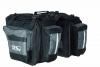 M-Wave Gepäcktasche 3-fach Traveller, schwarz/ grau, 62 l - 1