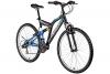 Mountainbike 26 Zoll Hillside Everest in schwarz 26'' Fahrrad Bike Fully vollgefedert 21 Gänge Damen Herren - 1