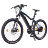 NCM Moscow 2016, 27,5 Zoll Elektrofahrrad Mountainbike,E-MTB E-Bike,Pedelec, 36V 250W Bafang Motor, 36V 13Ah designer Rahmen Akku,matt schwarz,hell blau -