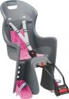 Polisport Kinder Fahrrad-Kindersitz, grau, 61005600 -