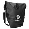 Premium-Fahrradtasche für den Gepäckträger • Große Radtasche mit abnehmbarem Schultergurt für Damen und Herren • Wasserfeste Gepäckträgertasche mit Reflektorschrift (Einzel) - 1