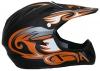 Protectwear FR-OR-S Downhillhelm Freeridehelm BMX Helm, Größe : S, Matt Schwarz/Orange - 1