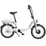 Provelo Unisex E-Bike Faltrad Elektrofahrrad / Fahrrad / Stadtrad, weiß, 3 Gang Nabenschaltung, Reifengröße: 20 Zoll (50,8 cm) -