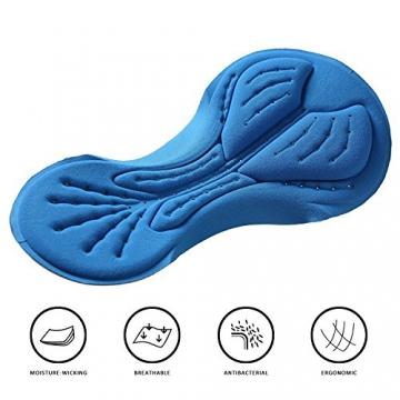 Radlerhose Herren mit Sitzpolster 3D, Nooyme Fahrradhose schnelltrockende, elastische Radhose aus Polyamid und Spandex – Verbesserte Elastizität und Luftdurchlässigkeit - 4