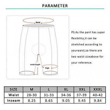 Radlerhose Herren mit Sitzpolster 3D, Nooyme Fahrradhose schnelltrockende, elastische Radhose aus Polyamid und Spandex – Verbesserte Elastizität und Luftdurchlässigkeit - 6