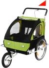 SAMAX Fahrradanhänger und Jogger 2 In 1, green black, 56640014 - 1