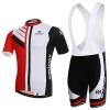 Skysper Herren Radtrikot Set Stilvolle Bequeme Kurzarm Radsportbekleidung + Fahrradhose -