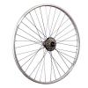 Taylor Wheels 28 Zoll Hinterrad YAK19 mit 7 fach Shimano Schraubkranz - silber -