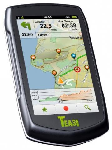 Teasi one² Wander - & Fahrradnavigationsgerät mit 27 Länder Europakarte - 2