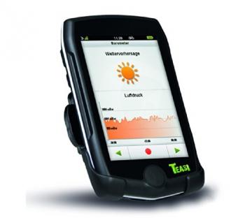 TEASI pro - Fahrrad- & Wandernavigation Europa mit Bluetooth , schwarz - 3
