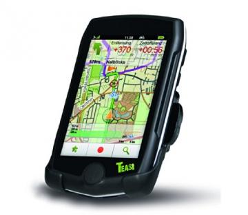 TEASI pro - Fahrrad- & Wandernavigation Europa mit Bluetooth , schwarz - 4