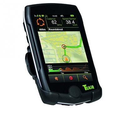 TEASI pro - Fahrrad- & Wandernavigation Europa mit Bluetooth , schwarz - 1