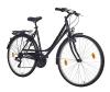 Teutoburg Augustdorf Citybike Fahrrad 28 Zoll Damen (Swingrahmen, 7 Gang Shimano Kettenschaltung, V Bremse, Sportgabel) schwarz -