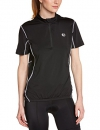 Ultrasport Damen Fahrradshirt mit Reißverschluß, black, M, 10218 -