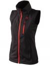 Ultrasport Damen Softshell Weste Athina, Black Red, S, 110107 - 1