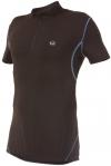 Ultrasport Herren Fahrradshirt mit Reißverschluß, black victoriablue, S, 10221 - 1