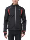 Ultrasport Herren Running-/Bikingjacke Stretch Delight, Schwarz/Rot, S, 40020 - 1