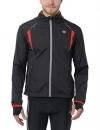 Ultrasport Herren Running-/Bikingjacke Stretch Delight, Schwarz/Rot, L, 40022 - 1
