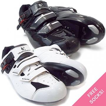 VeloChampion Elite Rennradschuh (Paar) White/Black 43 Road Cycling Shoes - 1