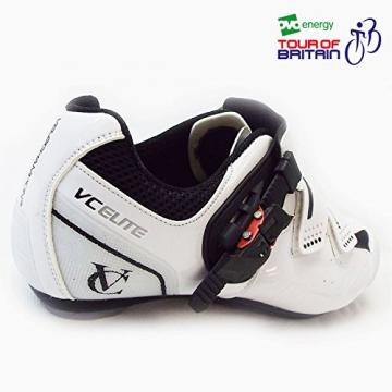 VeloChampion Elite Rennradschuh (Paar) White/Black 43 Road Cycling Shoes - 2
