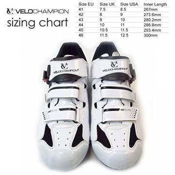 VeloChampion Elite Rennradschuh (Paar) White/Black 43 Road Cycling Shoes - 4