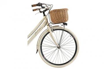 Via Veneto By Canellini Fahrrad Rad Citybike CTB Frau Vintage Retro Via Veneto Alluminium (Beige, 46) - 3